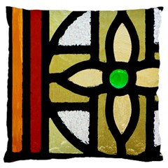 A Detail Of A Stained Glass Window Standard Flano Cushion Case (one Side) by Jojostore