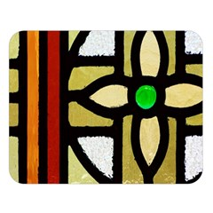 A Detail Of A Stained Glass Window Double Sided Flano Blanket (large)  by Jojostore