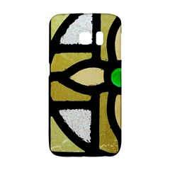 A Detail Of A Stained Glass Window Samsung Galaxy S6 Edge Hardshell Case by Jojostore