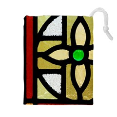 A Detail Of A Stained Glass Window Drawstring Pouch (xl) by Jojostore
