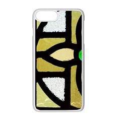 A Detail Of A Stained Glass Window Apple Iphone 8 Plus Seamless Case (white)
