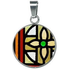 A Detail Of A Stained Glass Window 20mm Round Necklace by Jojostore