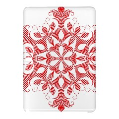 Red Pattern Filigree Snowflake On White Samsung Galaxy Tab Pro 12 2 Hardshell Case by Jojostore