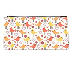 Animal Pattern Happy Birds Seamless Pattern Pencil Cases