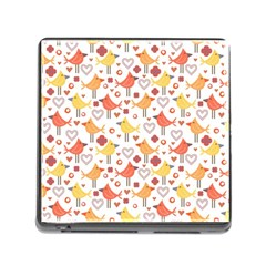Animal Pattern Happy Birds Seamless Pattern Memory Card Reader (square 5 Slot)