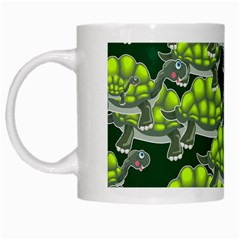 Seamless Tile Background Abstract Turtle Turtles White Mugs by Jojostore