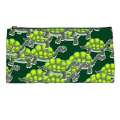 Seamless Tile Background Abstract Turtle Turtles Pencil Cases