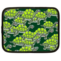 Seamless Tile Background Abstract Turtle Turtles Netbook Case (xl)