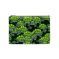 Seamless Tile Background Abstract Turtle Turtles Cosmetic Bag (medium)