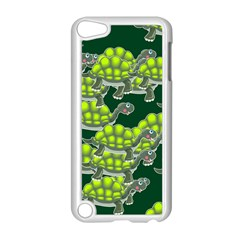 Seamless Tile Background Abstract Turtle Turtles Apple Ipod Touch 5 Case (white)