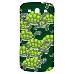 Seamless Tile Background Abstract Turtle Turtles Samsung Galaxy S3 S Iii Classic Hardshell Back Case