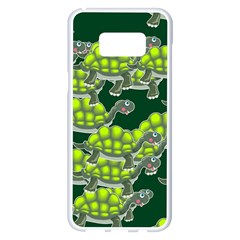 Seamless Tile Background Abstract Turtle Turtles Samsung Galaxy S8 Plus White Seamless Case by Jojostore
