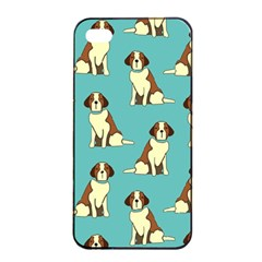 Dog Animal Pattern Apple Iphone 4/4s Seamless Case (black)