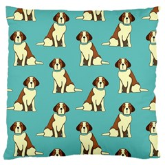 Dog Animal Pattern Large Cushion Case (two Sides) by Jojostore