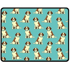 Dog Animal Pattern Double Sided Fleece Blanket (medium)