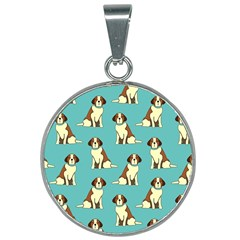 Dog Animal Pattern 25mm Round Necklace
