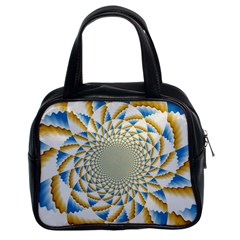 Tech Neon And Glow Backgrounds Psychedelic Art Psychedelic Art Classic Handbag (two Sides)