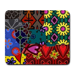 Digitally Created Abstract Patchwork Collage Pattern Large Mousepads by Jojostore