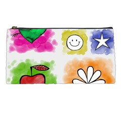 A Set Of Watercolour Icons Pencil Cases