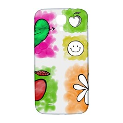 A Set Of Watercolour Icons Samsung Galaxy S4 I9500/i9505  Hardshell Back Case