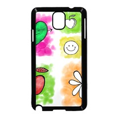 A Set Of Watercolour Icons Samsung Galaxy Note 3 Neo Hardshell Case (black) by Jojostore