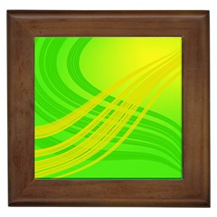 Abstract Green Yellow Background Framed Tiles