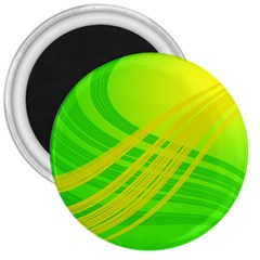 Abstract Green Yellow Background 3  Magnets by Jojostore