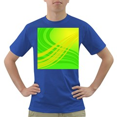 Abstract Green Yellow Background Dark T-shirt by Jojostore