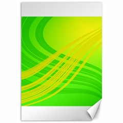 Abstract Green Yellow Background Canvas 12  X 18  by Jojostore