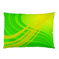 Abstract Green Yellow Background Pillow Case