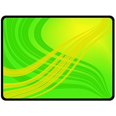 Abstract Green Yellow Background Fleece Blanket (large)