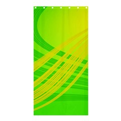 Abstract Green Yellow Background Shower Curtain 36  X 72  (stall)  by Jojostore