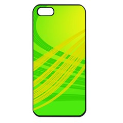 Abstract Green Yellow Background Apple Iphone 5 Seamless Case (black)