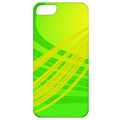 Abstract Green Yellow Background Apple Iphone 5 Classic Hardshell Case