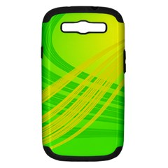 Abstract Green Yellow Background Samsung Galaxy S Iii Hardshell Case (pc+silicone)