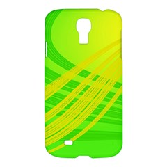 Abstract Green Yellow Background Samsung Galaxy S4 I9500/i9505 Hardshell Case