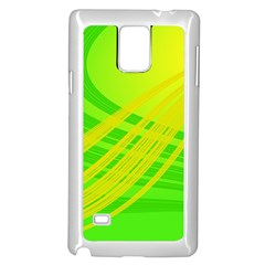 Abstract Green Yellow Background Samsung Galaxy Note 4 Case (white)