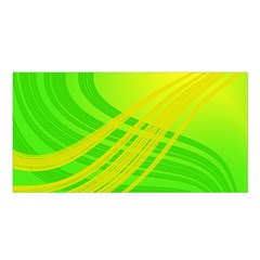 Abstract Green Yellow Background Satin Shawl