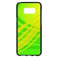 Abstract Green Yellow Background Samsung Galaxy S8 Plus Black Seamless Case