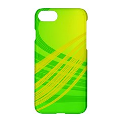 Abstract Green Yellow Background Apple Iphone 8 Hardshell Case by Jojostore