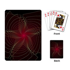 Fractal Red Star Isolated On Black Background Playing Cards Single Design by Jojostore