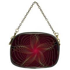 Fractal Red Star Isolated On Black Background Chain Purse (two Sides)