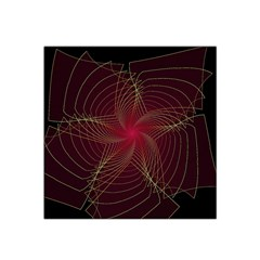 Fractal Red Star Isolated On Black Background Satin Bandana Scarf