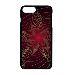 Fractal Red Star Isolated On Black Background Apple Iphone 7 Plus Seamless Case (black) by Jojostore
