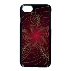 Fractal Red Star Isolated On Black Background Apple Iphone 7 Seamless Case (black)