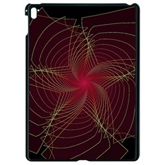 Fractal Red Star Isolated On Black Background Apple Ipad Pro 9 7   Black Seamless Case