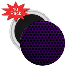 Dark Purple Metal Mesh With Round Holes Texture 2 25  Magnets (10 Pack)  by Jojostore