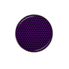 Dark Purple Metal Mesh With Round Holes Texture Hat Clip Ball Marker (4 Pack)