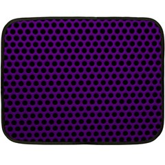 Dark Purple Metal Mesh With Round Holes Texture Double Sided Fleece Blanket (mini)  by Jojostore