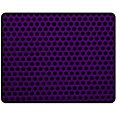 Dark Purple Metal Mesh With Round Holes Texture Fleece Blanket (medium)